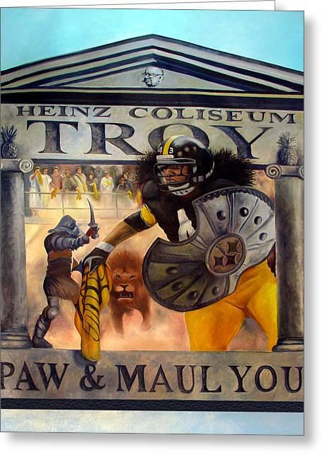 Troy Polamalu Greeting Card