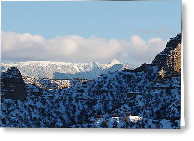 Greeting Card featuring the photograph Truchas Peaks by Atom Crawford