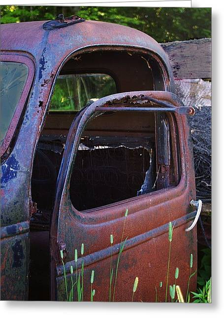 Truck And  Door Greeting Card by Randy Pollard