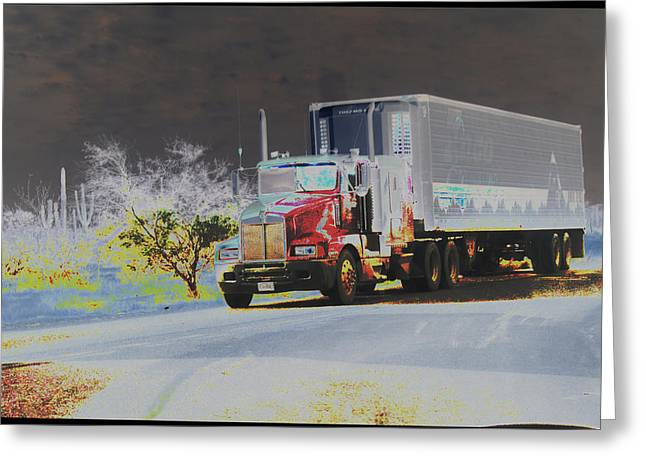 Truck Greeting Card by Astrid Lenz