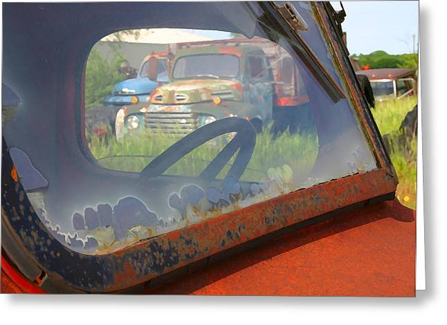 Greeting Card featuring the photograph Truck Glass by Christopher McKenzie