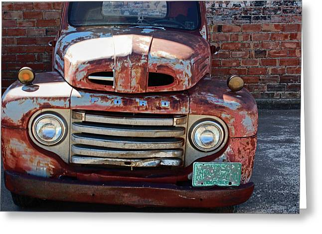 Greeting Card featuring the photograph Ford In Goodland by Lynn Sprowl