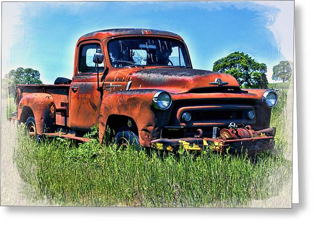 Greeting Card featuring the photograph Truck In The Grass by William Havle