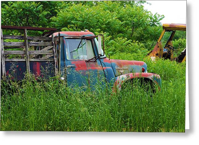 Truck Plant Greeting Card by Kenneth Feliciano