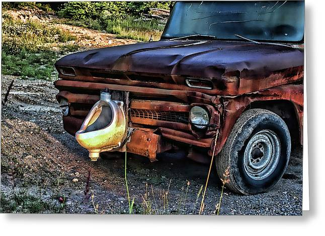 Greeting Card featuring the photograph Truck With Benefits by Ron Roberts