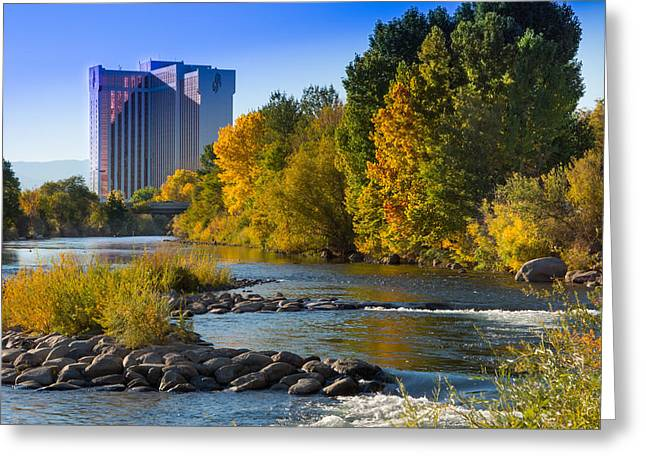 Truckee River From Sparks Greeting Card by Janis Knight