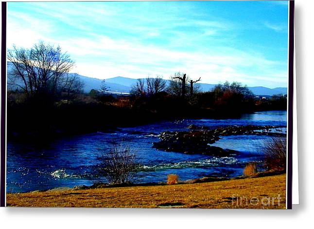 Greeting Card featuring the photograph Truckee River In Motion by Bobbee Rickard