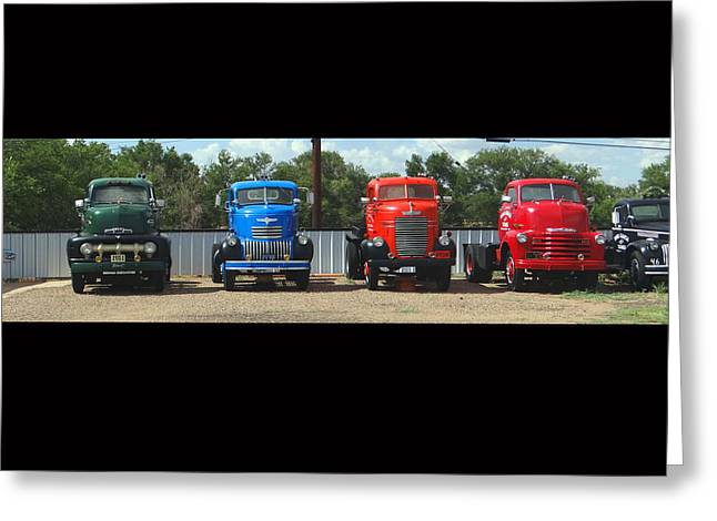 Truckin Greeting Card