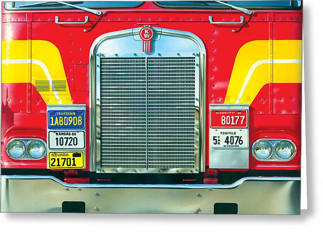 Trucking Greeting Card by Brian James