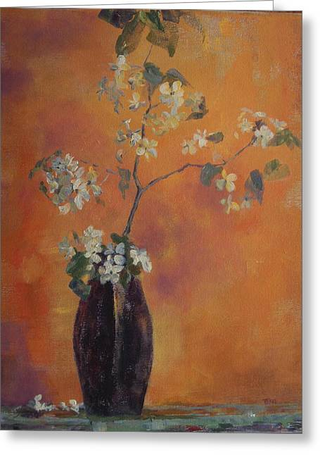 Trudi's Vase Greeting Card by Terri Messinger