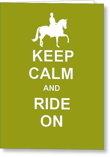 True Cadence Keep Calm Greeting Card by JAMART Photography