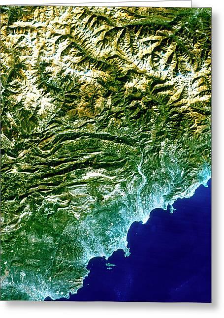 True-colour Satellite Image Of Nice Greeting Card