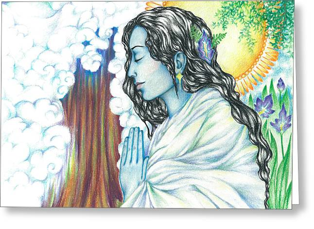 True Nature   Oneness Art Greeting Card