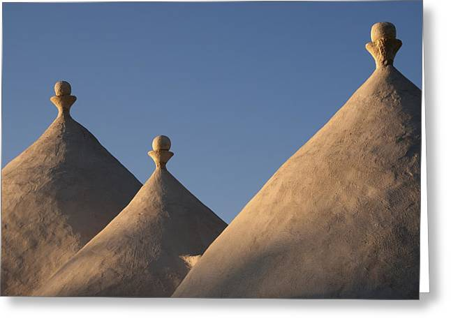 Trulli Roofs In Puglia, Italy, Europe Greeting Card