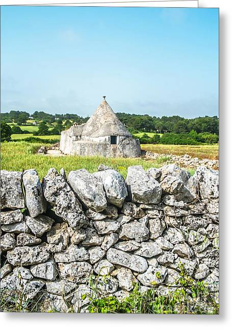 Trullo Stone House Greeting Card