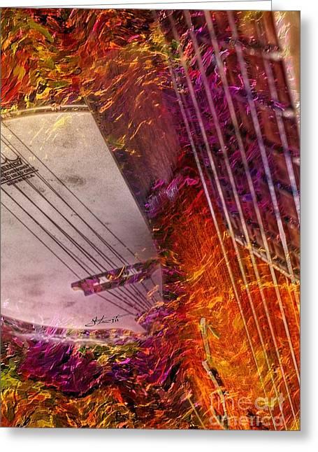Truly Southern Digital Banjo And Guitar Art By Steven Langston Greeting Card by Steven Lebron Langston