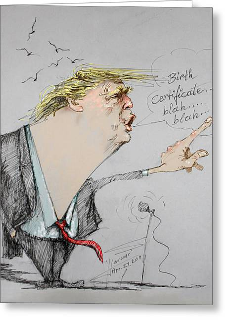 Trump In A Mission....much Ado About Nothing. Greeting Card