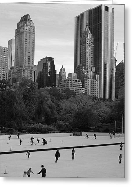 Trump Rink In New York City Greeting Card by Dan Sproul