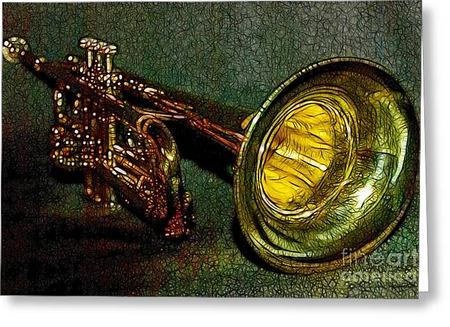 Trumpet - 20130111 Greeting Card by Wingsdomain Art and Photography