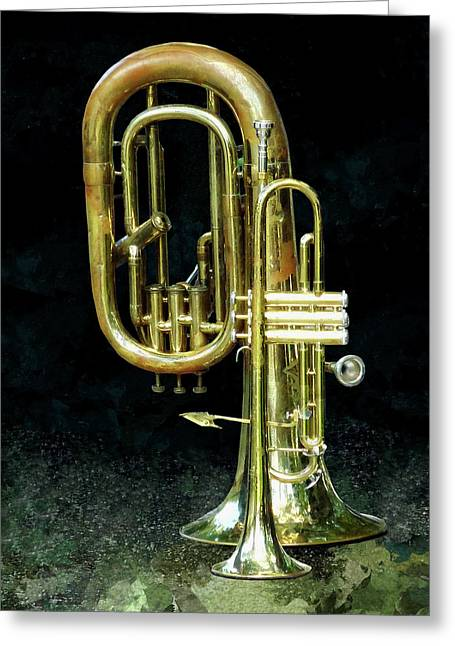 Trumpet And Tuba Greeting Card