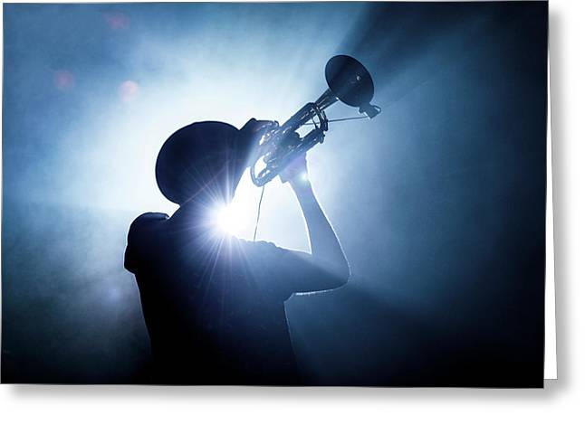 Trumpet Player Greeting Card