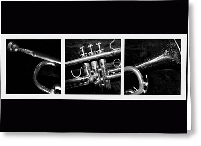 Trumpet Triptych Greeting Card