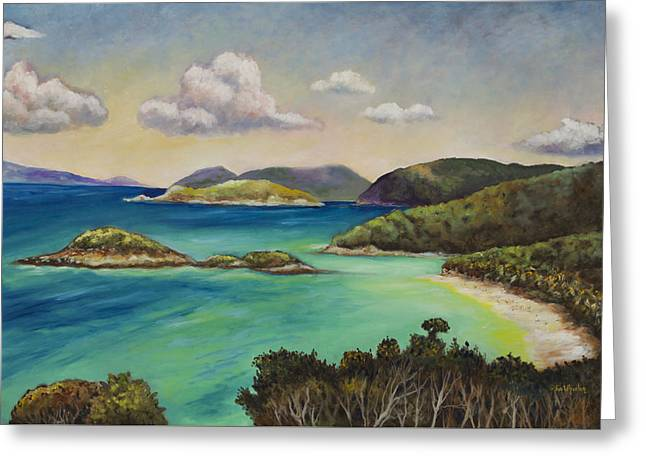 Trunk Bay Overlook Greeting Card by Eve  Wheeler