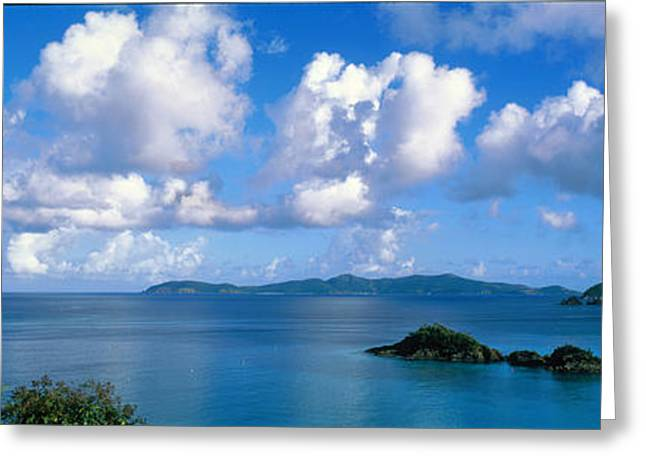 Trunk Bay St John Us Virgin Islands Greeting Card by Panoramic Images