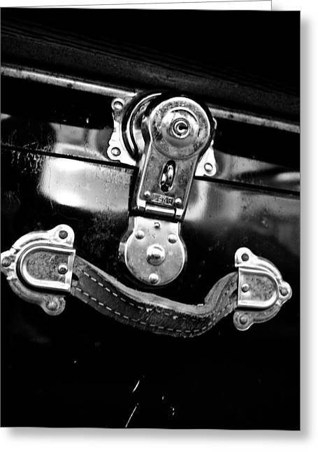 Trunk Latch Greeting Card by Adria Trail