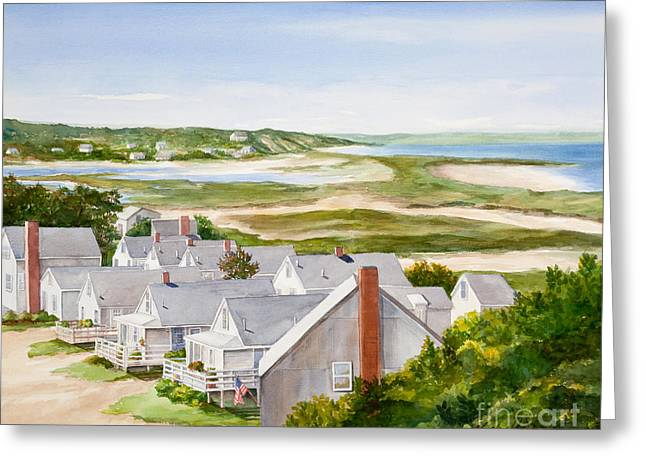Truro Summer Cottages Greeting Card by Michelle Wiarda