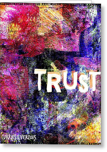 Trust Greeting Card by Currie Silver
