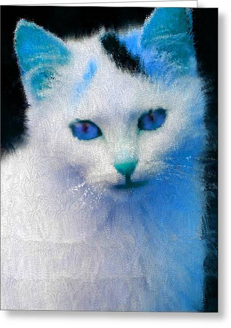 Trust In My Blue Greeting Card by Holley Jacobs