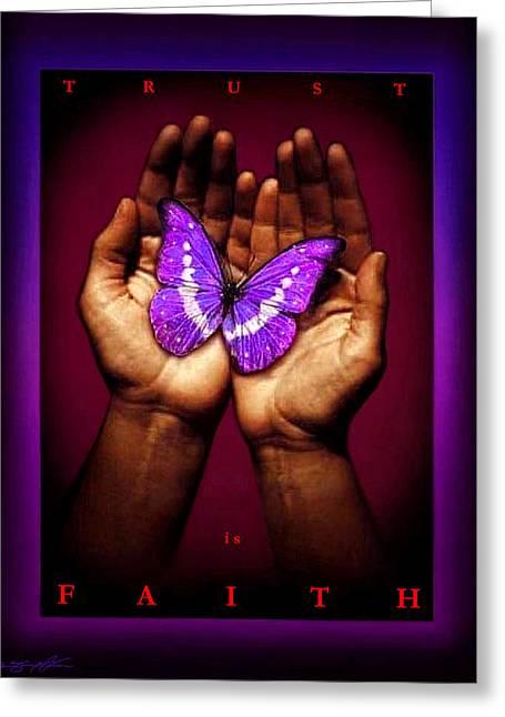 Trust Is Faith Greeting Card by Tony Nixon
