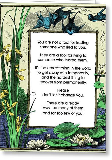 Trust Greeting Card