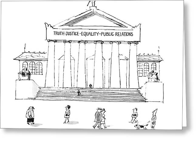 Truth Justice Equality Public Relations Greeting Card by Mischa Richter