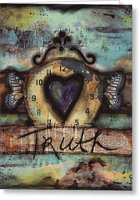 Truth Greeting Card by Shawn Petite