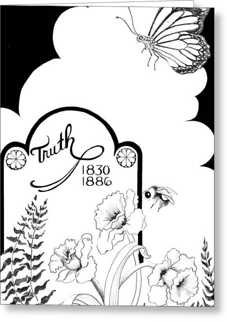 Greeting Card featuring the digital art Truth Time by Carol Jacobs