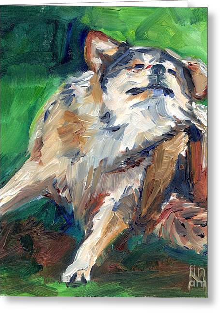 Truth Wolf In Oil Paint Greeting Card