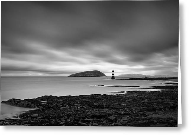 Trwyn Du Lighthouse 1 Greeting Card