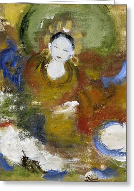 Tseringma Greeting Card by Alma Dankoff