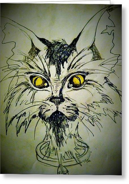 Tsimos Cat Greeting Card