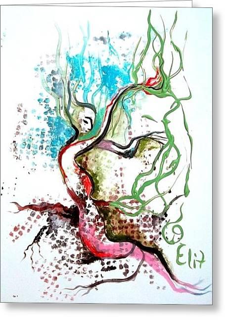Tu Bishvat - New Year Of The Trees Greeting Card by Elisheva Nesis