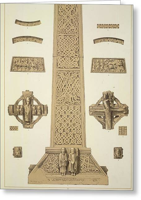 Tuam Cross Greeting Card by British Library