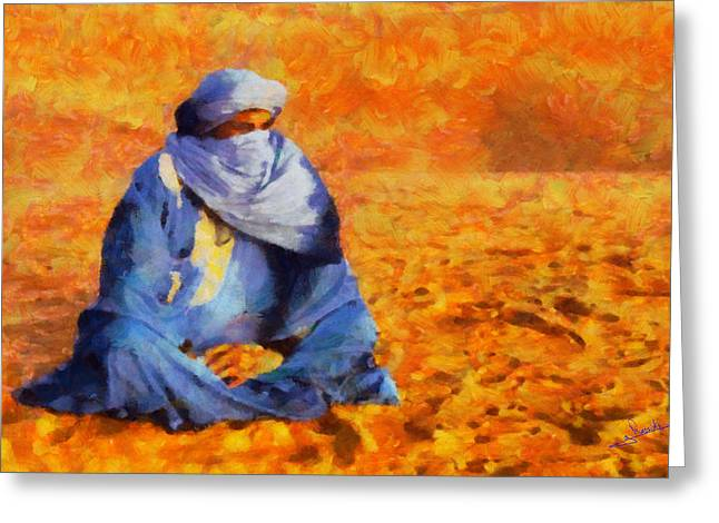 Tuareg 2 L.e. Greeting Card by George Rossidis