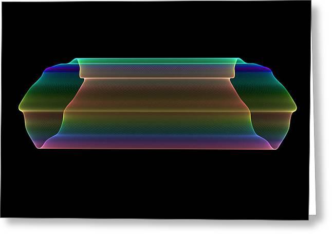 Greeting Card featuring the digital art Tubular Rainbow by Denise Beverly