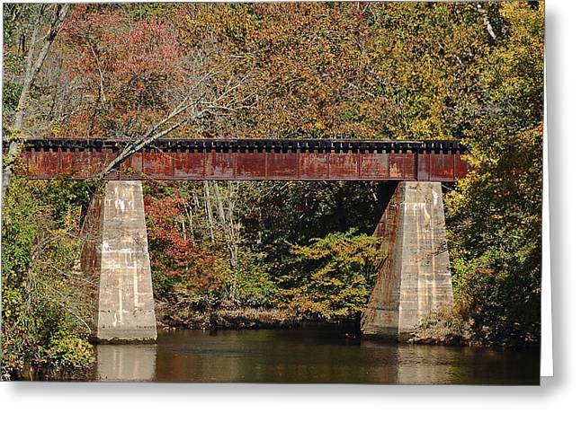 Tuckahoe Railroad Bridge Up Close Greeting Card by Bill Swartwout Photography