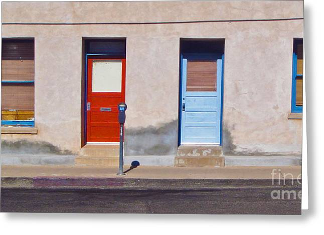 Tucson Arizona Doors Greeting Card by Gregory Dyer