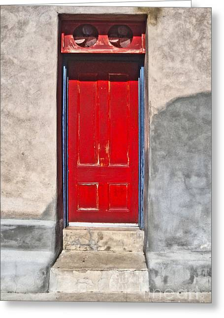 Tucson Arizona Red Door Greeting Card by Gregory Dyer