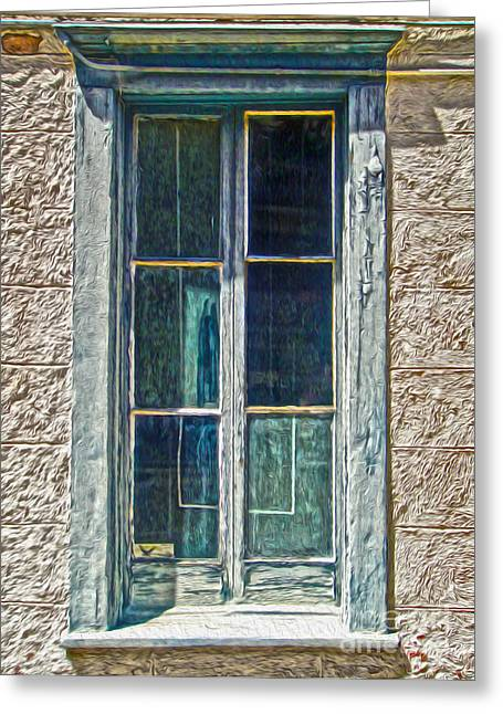 Tucson Arizona Window Greeting Card by Gregory Dyer
