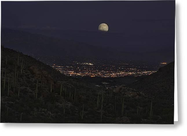 Tucson At Dusk Greeting Card